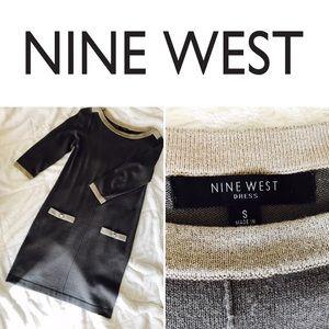 Nine West Midi-Length Sweater Dress