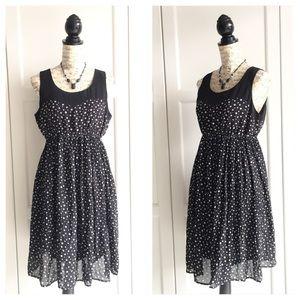 Motherhood Maternity Black Polka Dot Dress