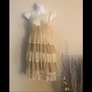 Boho layered lace dress