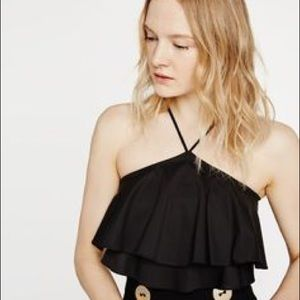 ZARA ruffle crop top