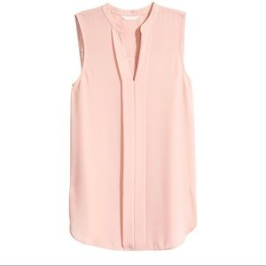 H&M V Neck Sleeveless Blouse