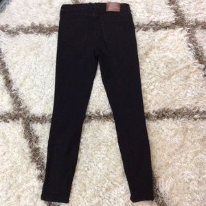 MADEWELL Black Skinny Ankle Zip Stretch Jeans