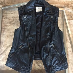 Abercrombie & Fitch Faux Leather Vest