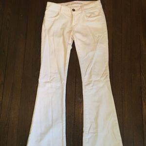 J Brand super flared white jeans