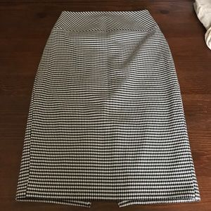 Express Houndstooth Skirt