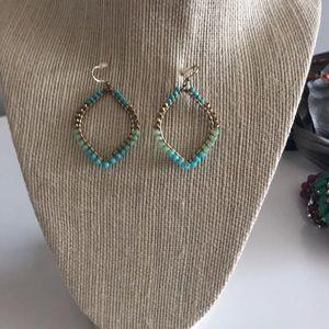 Stella & Dot turquoise earrings