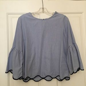 Zara Bell Sleeve Top