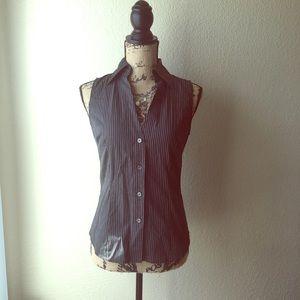 EXPRESS black/white pinstripe vest