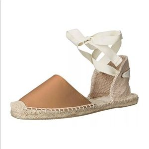 Soludos Classic ankle wrap Sandal tan Leather 8