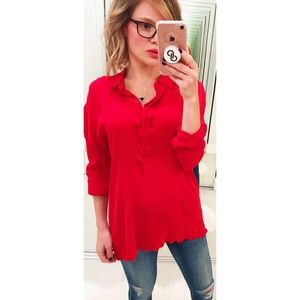 COS Oversized Shirt in Red