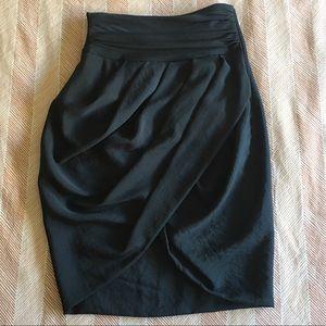 Grey Zara Faux Wrap Skirt, Small