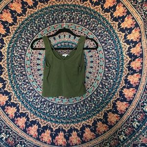 Charlotte Russe olive green top