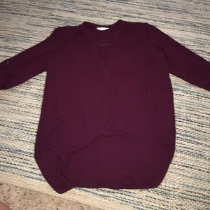 lush size small tunic plum color NWOT