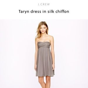 J. Crew Taryn Dress Silk Chiffon Dress Purple 4