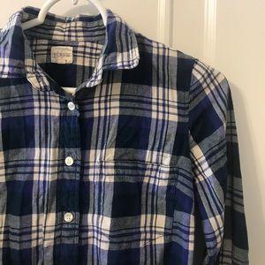 J.Crew Factory Perfect Shirt in Blue - XXS
