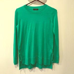 NWOT J Crew kelly green lightweight sweater