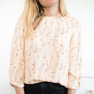LC pink floral top