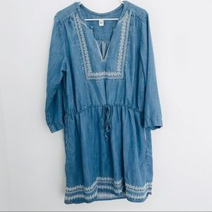 GAP // Denim Dress with Embroidery Detail
