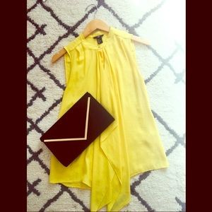 Flowy chic canary yellow blouse from H&M.