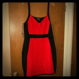 Red hot Plus size Bandage Dress