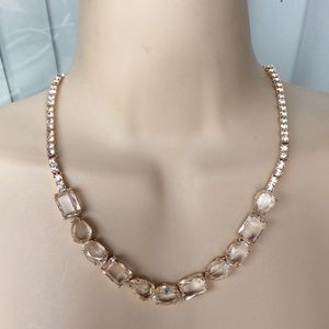 Kate Spade NY fabulous clear crystal necklace