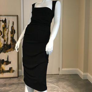 Nicole Miller Black Jersey Dress ✔️❣️👀