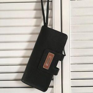 Kenneth Cole black wallet wristlet