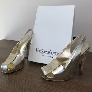 YSL Gold heels