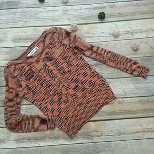 Anthropologie Sparrow loose knit abstract sweater