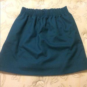J Crew wool mini skirt