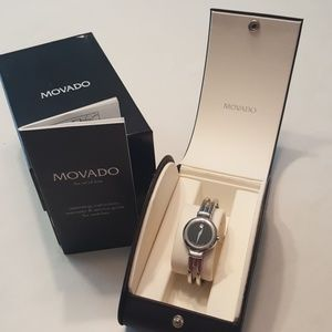 Authentic Movado woman's stainless steel watch
