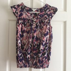 Banana Republic Floral short sleeve Blouse