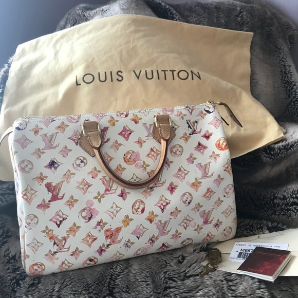 71a622c87a2e Louis Vuitton Handbags - Louis Vuitton Speedy 35 Watercolor