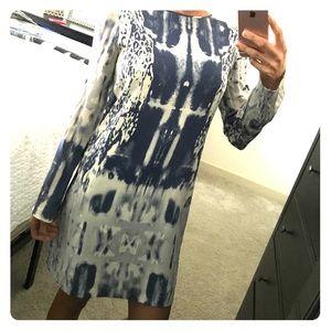 Nicole Miller silk print dress