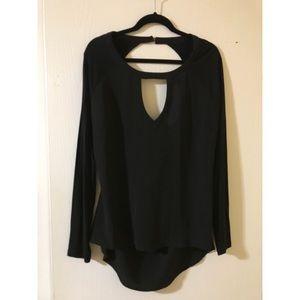 Bebe keyhole drape blouse