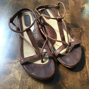 Born Brown Sandal Wedges size 9