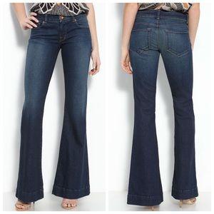 J Brand Jeans 28X35 Love Story Flare Dark Vintage!