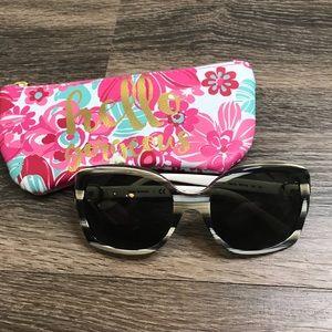 Tory Burch Sunglasses - HORN IVORY WHITE
