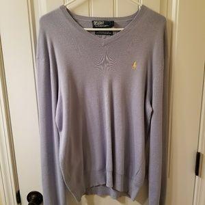 Mens medium v-neck polo sweaters