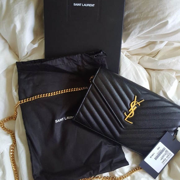 aa2acfebe3 BRAND NEW WITH TAG YSL Monogram Chain Wallet