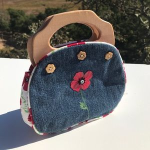 Gymboree Poppy Red Denim Purse