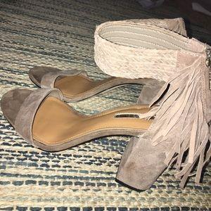 BCBG heels with fringe size 7.5