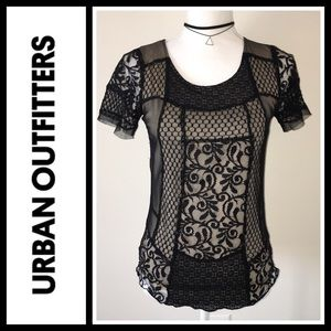 Urban Outfitters Kimchi Blue Lace overlay top