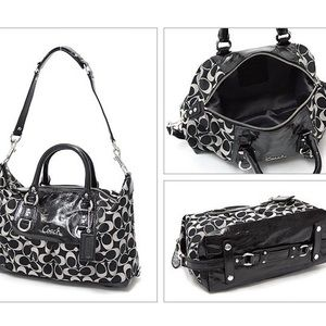 Coach Ashley Signature Sateen Satchel F15443
