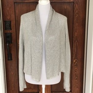 Anthropologie- knitted & knotted gray cardigan.
