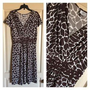 Women's Worthington Giraffe Print Dress S