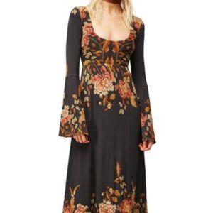 FP NWOT midnight garden maxi dress