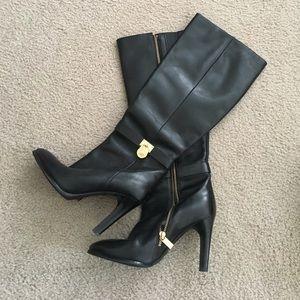 Michael Kors Black Leather Heeled Boots