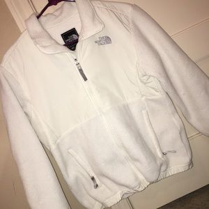 White- The North Face Zip-Up Jacket
