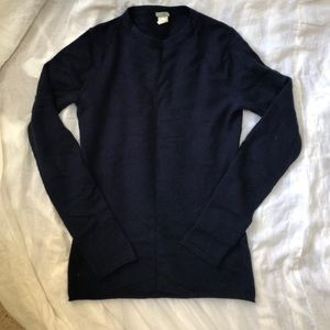 J. Crew navy cashmere pullover sweater
